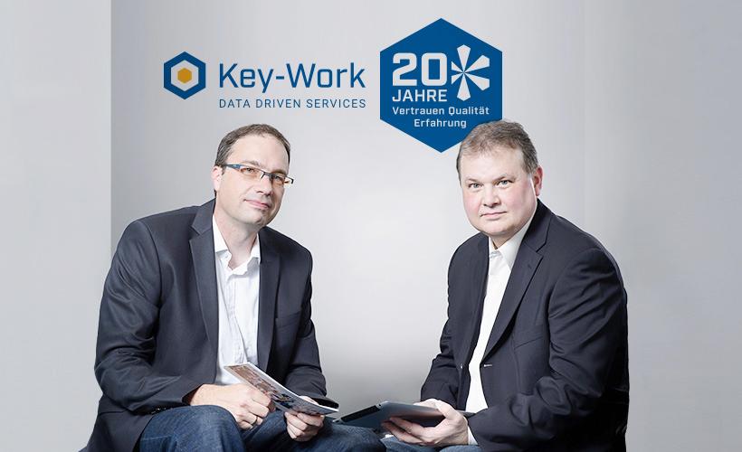 20 Jahre Key-Work, Andreas Stappert und Tobin Wotring, Gründer und Geschäftsführer