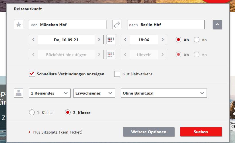 Website- und Trackingdaten – Bsp DB